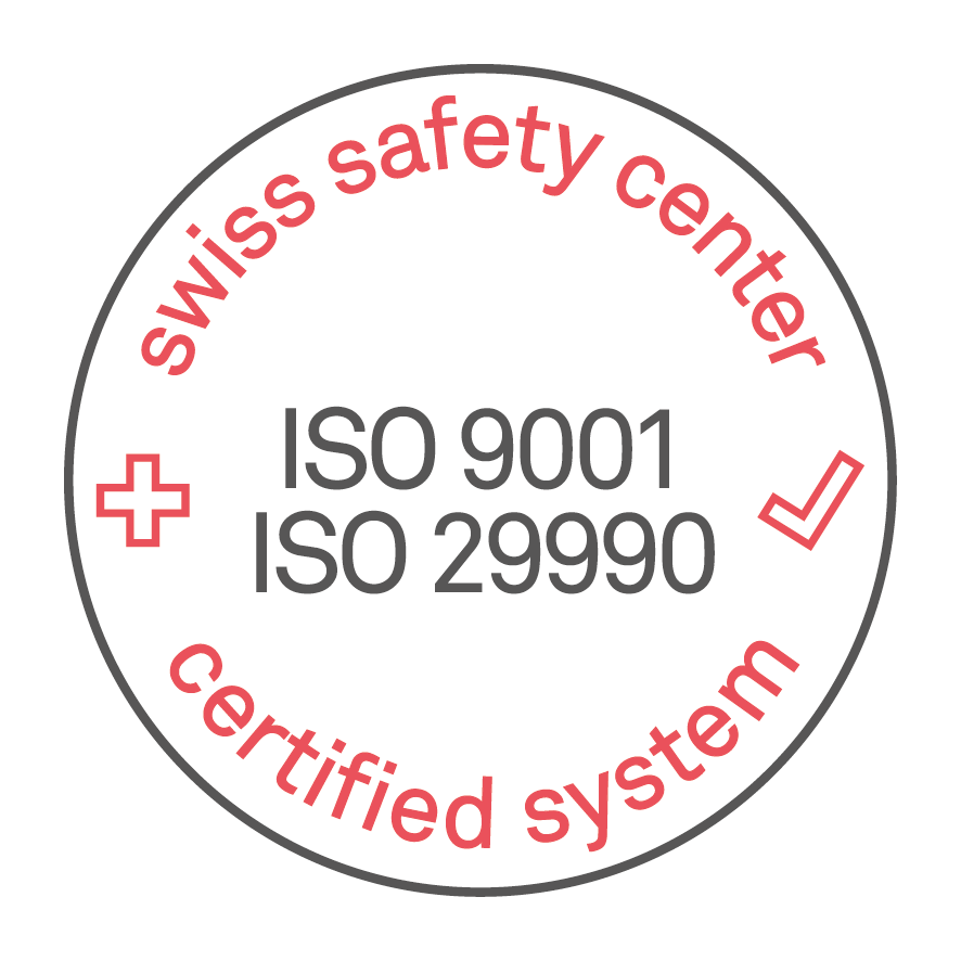 Swiss Safety Center ISO9001 ISO29990